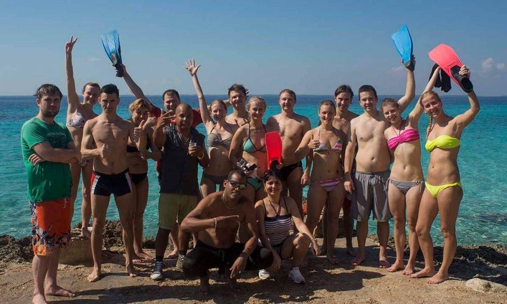 Cuba sitios de interés en Playa Girón buceo con el grupo de snorkeling