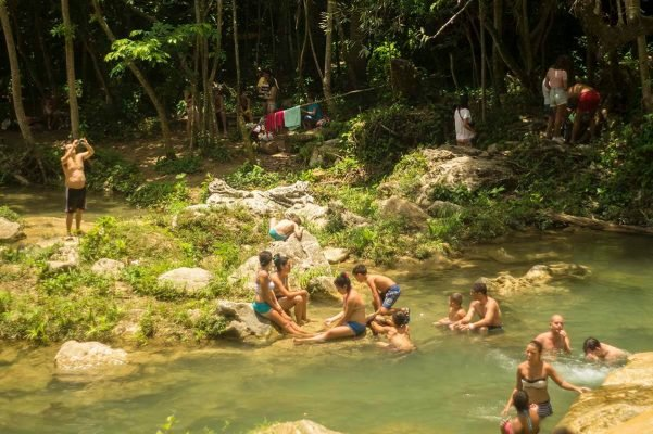Cuba sites of interest Soroa Las Terrazas people enjoying