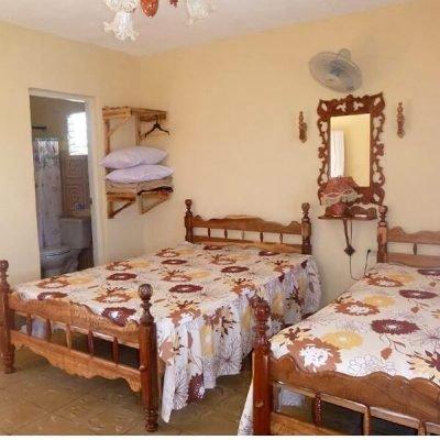 Casas particulares slaapkamer en WC Vinales