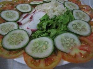 Cubaanse gerechten salad