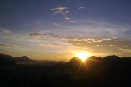 Viñales Cuba puesta del sol
