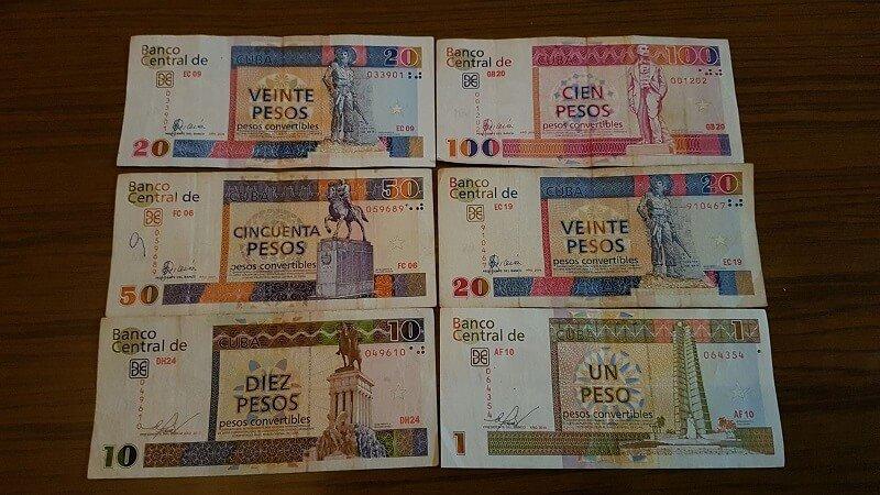 Paklijst Cuba cash