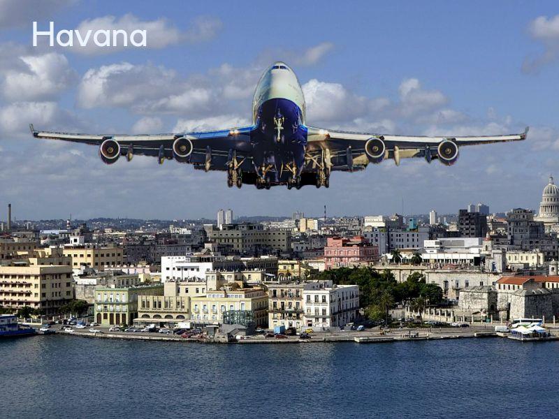 vliegticket naar Cuba vliegtuig Havana